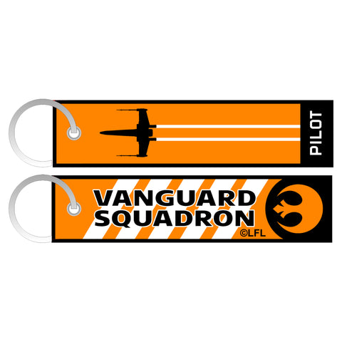 View 1 of Star Wars: Squadrons Vanguard Flight Tag Woven Keychain photo.