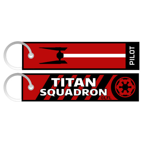 View 1 of Star Wars: Squadrons Titan Flight Tag Woven Keychain photo.