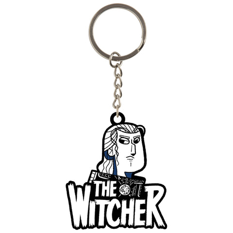 View 1 of Netflix: The Witcher Geralt Title Keychain photo.