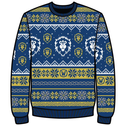 View 1 of World of Warcraft Alliance Ugly Holiday Sweater photo.