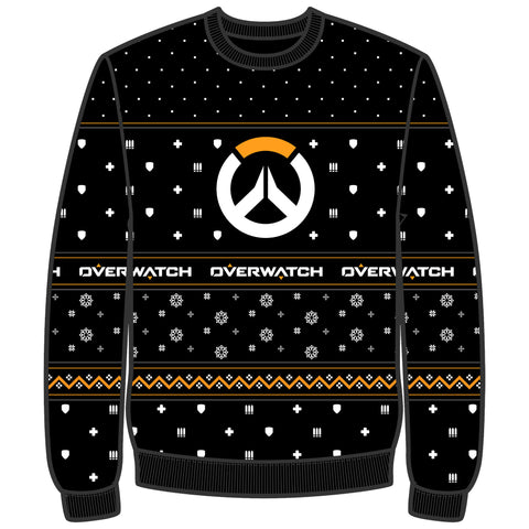 View 1 of Overwatch Over the Holidays Ugly Holiday Sweater photo.