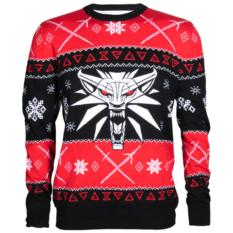 View 1 of The Witcher 3 Dreaming Of A White Wolf Ugly Holiday Sweater photo.