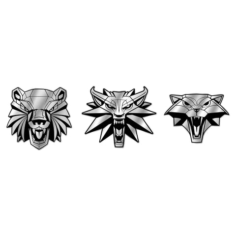 View 1 of The Witcher 3 School Pride 3-Pack Pin Set photo.