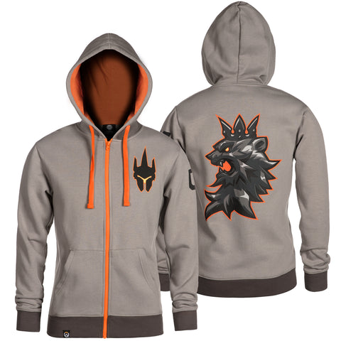View 1 of Overwatch Ultimate Reinhardt Zip-Up Hoodie photo.