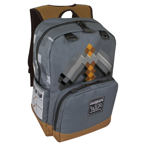 View 1 of Minecraft Pickaxe Adventure Backpack photo.