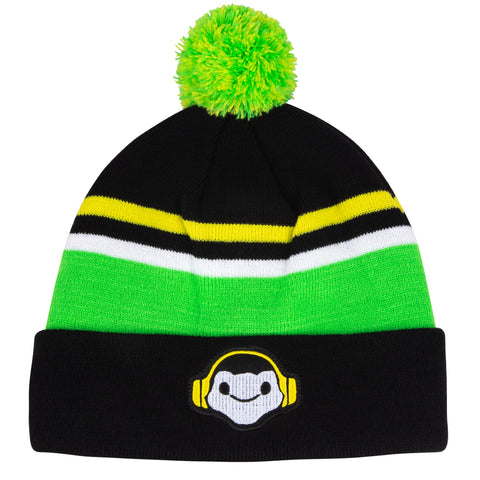 View 1 of Overwatch Lucio Pom Beanie photo.
