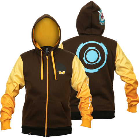 View 1 of Overwatch Ultimate Tracer Zip-Up Hoodie photo.