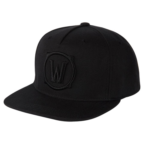 View 1 of World of Warcraft Blackout Logo Snap Back Hat photo.