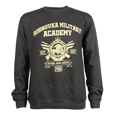View 1 of PUBG Military Academy Crew Neck Sweatshirt photo.