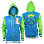 View 1 of Overwatch Varsity Lucio Zip-Up Hoodie photo.