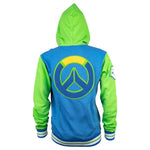 View 3 of Overwatch Varsity Lucio Zip-Up Hoodie photo.