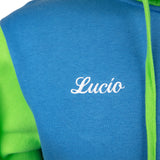 View 4 of Overwatch Varsity Lucio Zip-Up Hoodie photo.