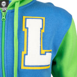 View 5 of Overwatch Varsity Lucio Zip-Up Hoodie photo.