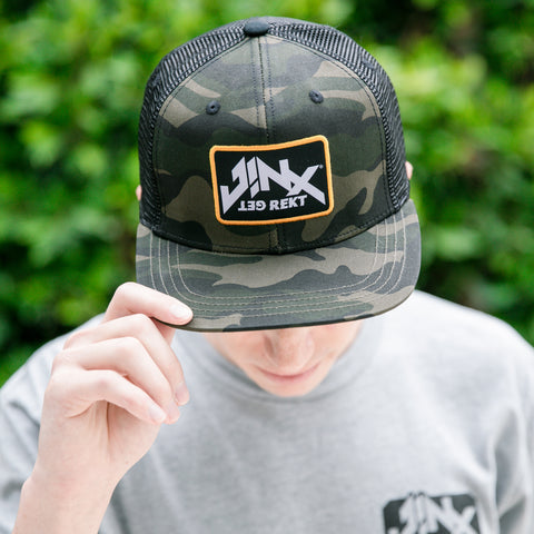 View 1 of J!NX Get Rekt Trucker Snap Back Hat photo.