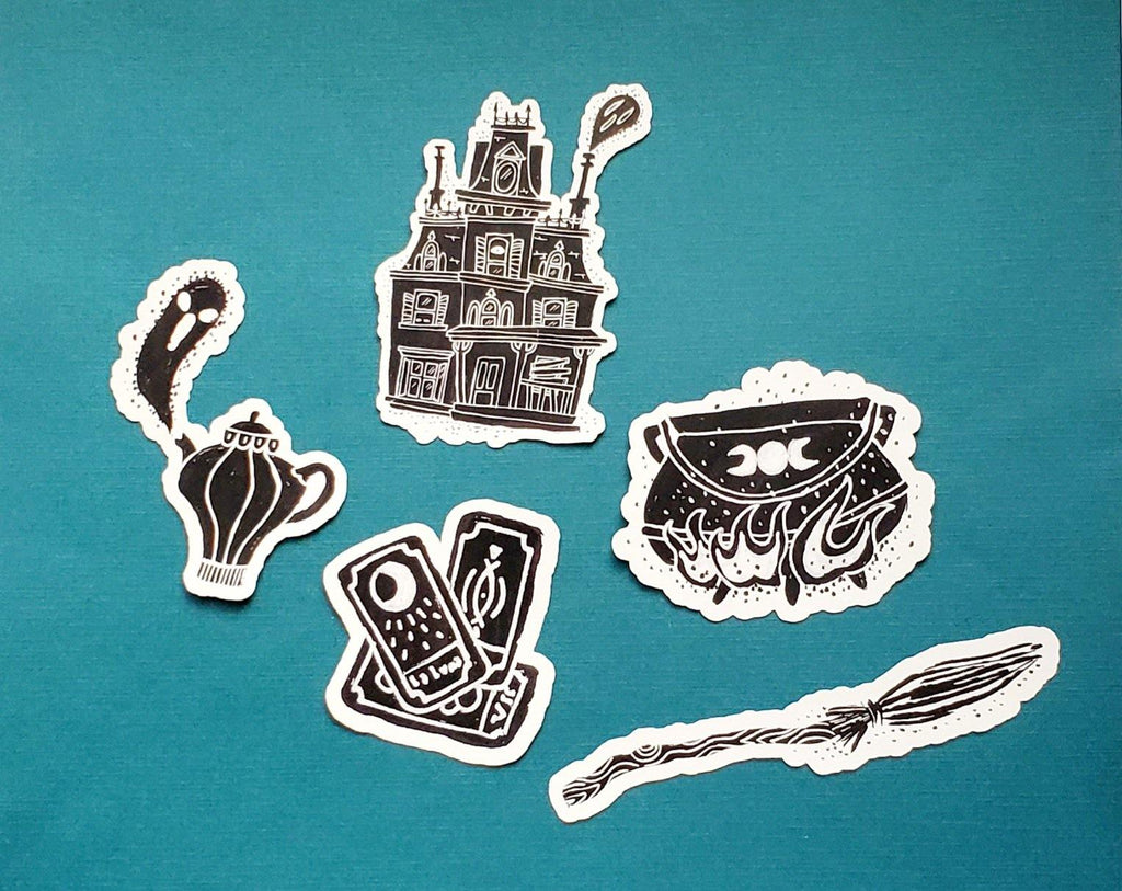 witchy Halloween vinyl sticker pack