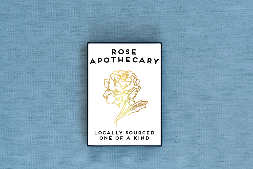 Rose Apothecary Foiled & Framed Print - Lucky Dog Design Co.