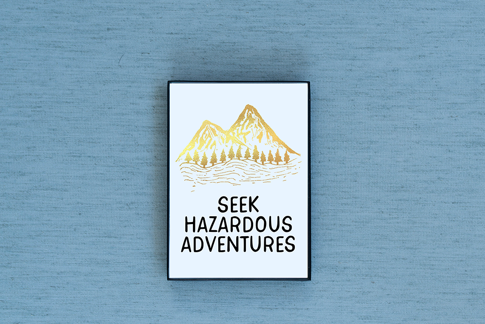 Seek Hazardous Adventures Foiled & Framed Print - Lucky Dog Design Co.
