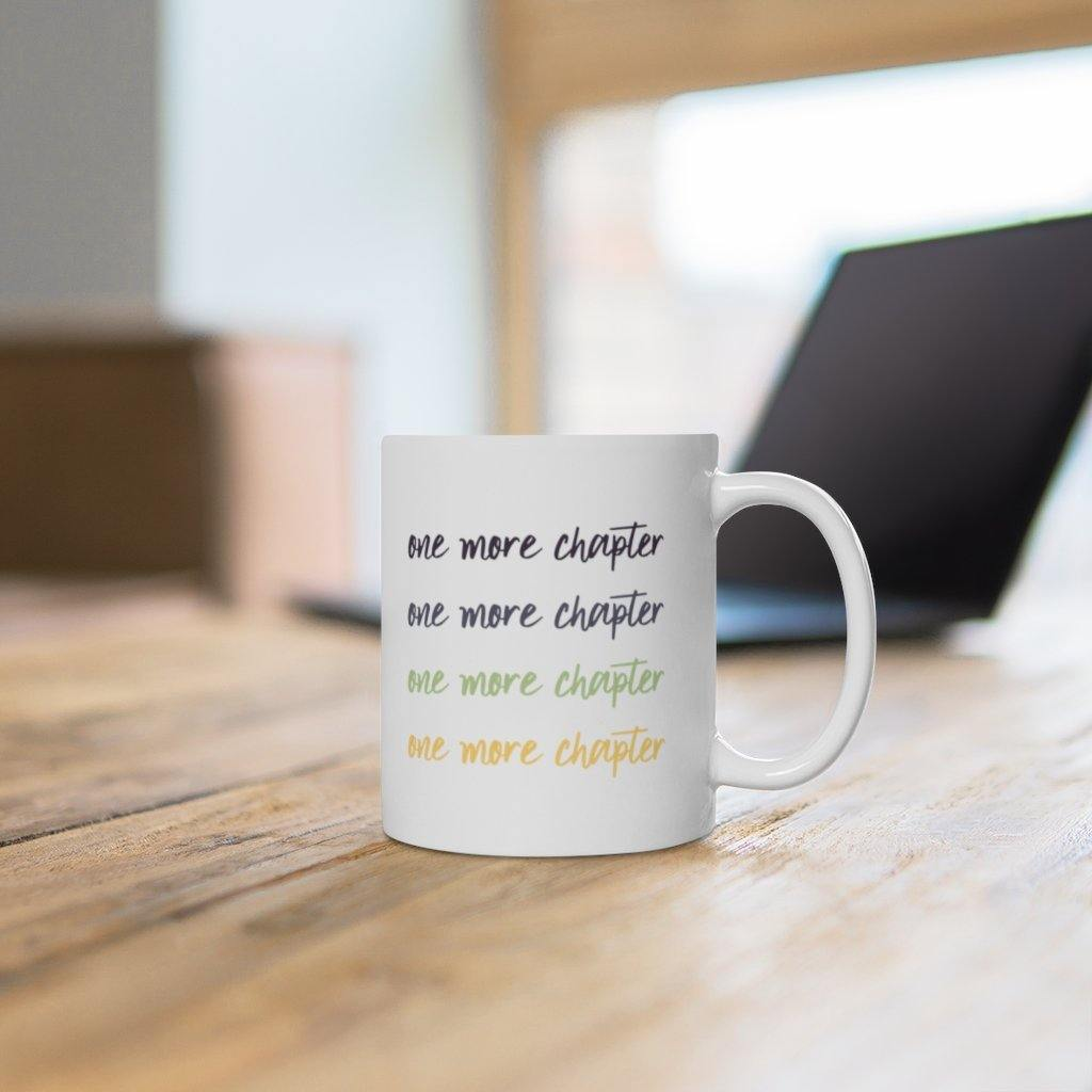 One More Chapter Bookworm Mug (11 oz.) - Lucky Dog Design Co.