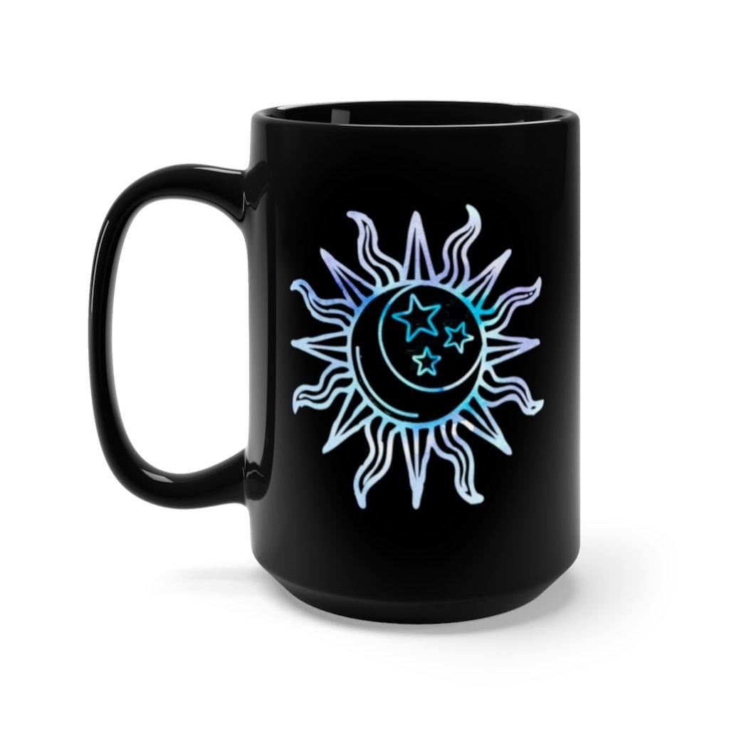 Live by the Sun, Love by the Moon Watercolor Mug - Lucky Dog Design Co.