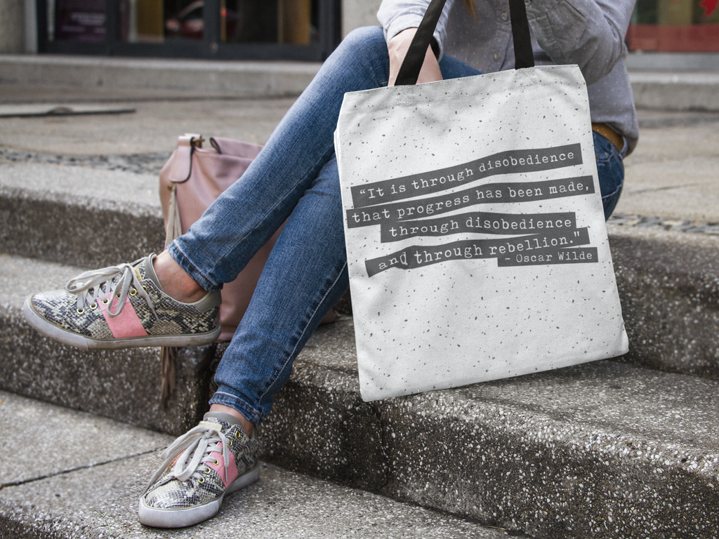 Oscar Wilde Tote Bag - Lucky Dog Design Co.
