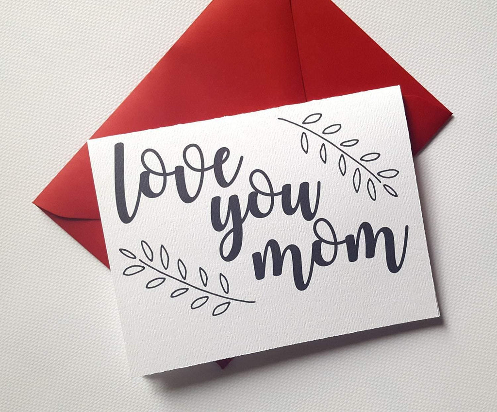 love you mom floral mother's day greeting card