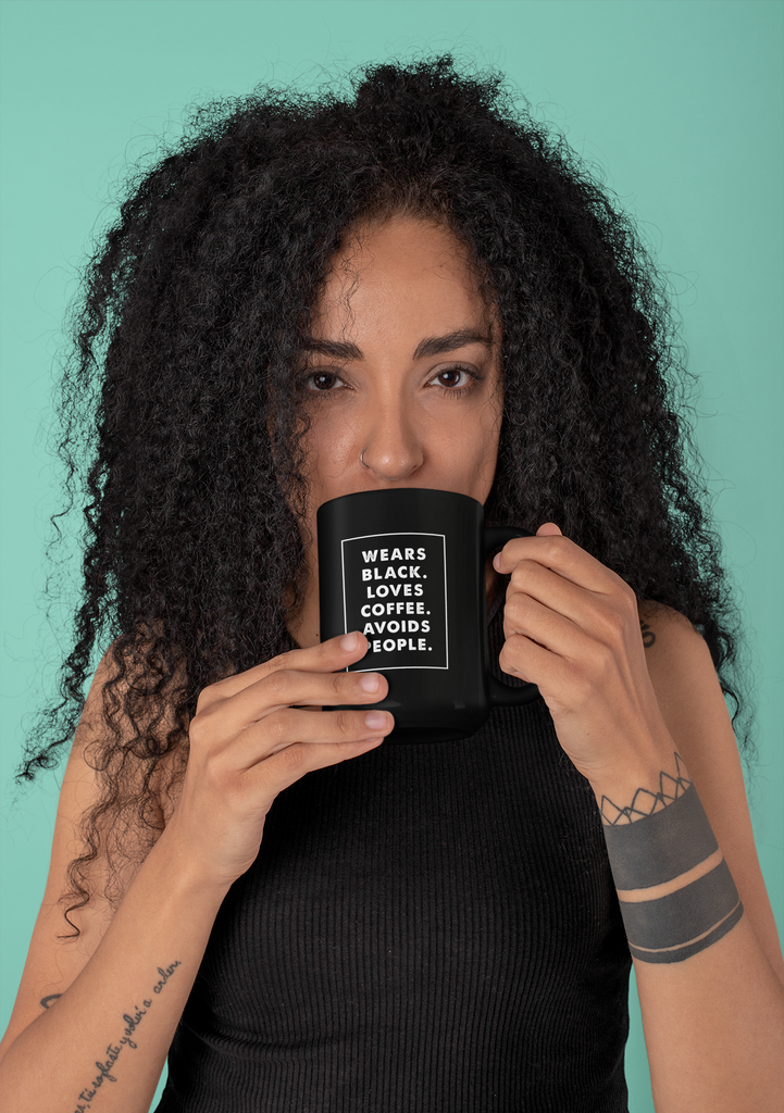 This Coffee Mug is as Black as My Soul - Lucky Dog Design Co.