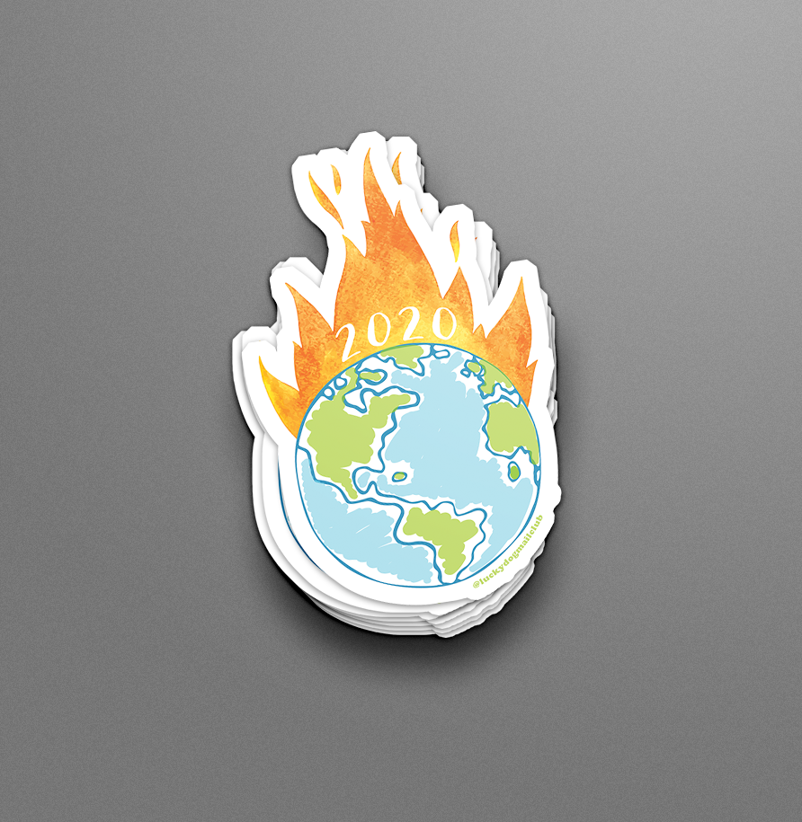 The World's on Fire Vinyl Sticker