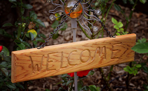 Garden Welcome Sign