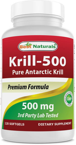 Best Naturals Krill Oil 500mg 120 softgels