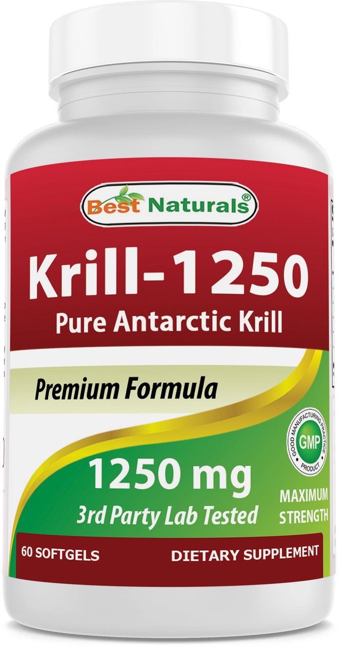 Best Naturals Krill Oil 1250mg 60 softgels