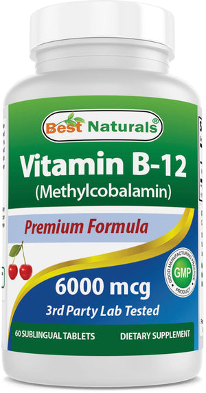 Best Naturals vitamin b-12 6000 mcg 60 Tablets