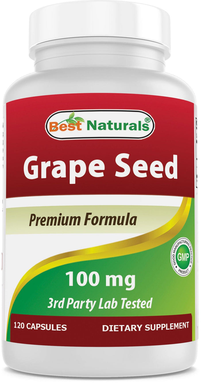 Best Naturals Grapeseed Extract 100 mg 120 Capsules