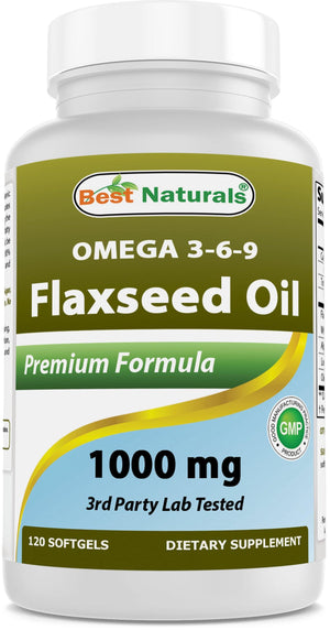 Best Naturals Flaxseed oil 1000 mg 120 Softgels