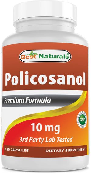 Best Naturals Policosanol 10 mg 120 Capsules