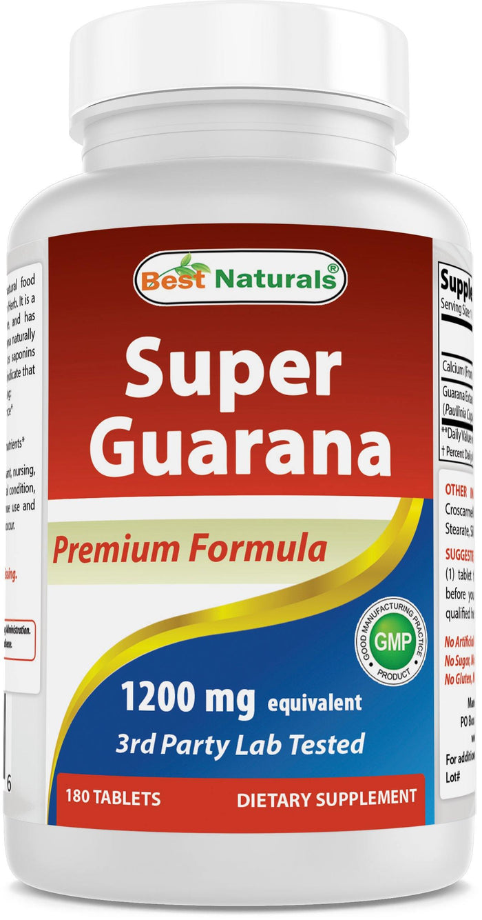 Best Naturals Super Guarana 1200 mg 180 Tablets
