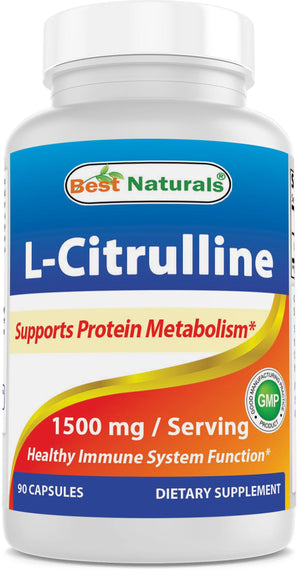 Best Naturals L-Citrulline 1500mg/Serving 90 Capsules