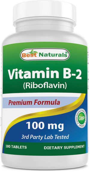 Best Naturals B-2 100mg 180 Tablets