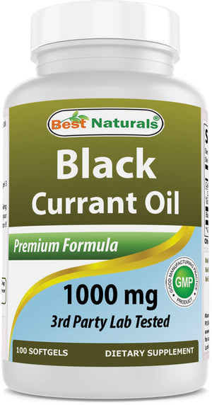 Best Naturals Black Currant Oil 1000 mg 100 Softgels