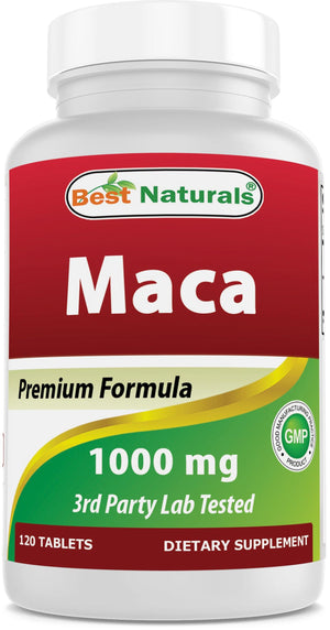 Best Naturals Gelatinized Maca 1000mg 120 Tablets