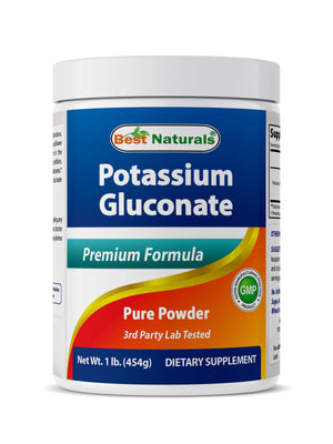 Best Naturals Potassium Gluconate Powder 1 Pound