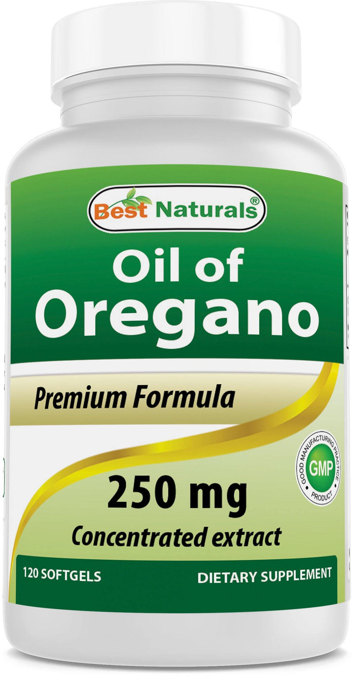 Best Naturals Oregano Oil 250 mg 120 Softgels