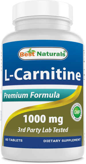 Best Naturals L-Carnitine 1000 mg 60 Tablets