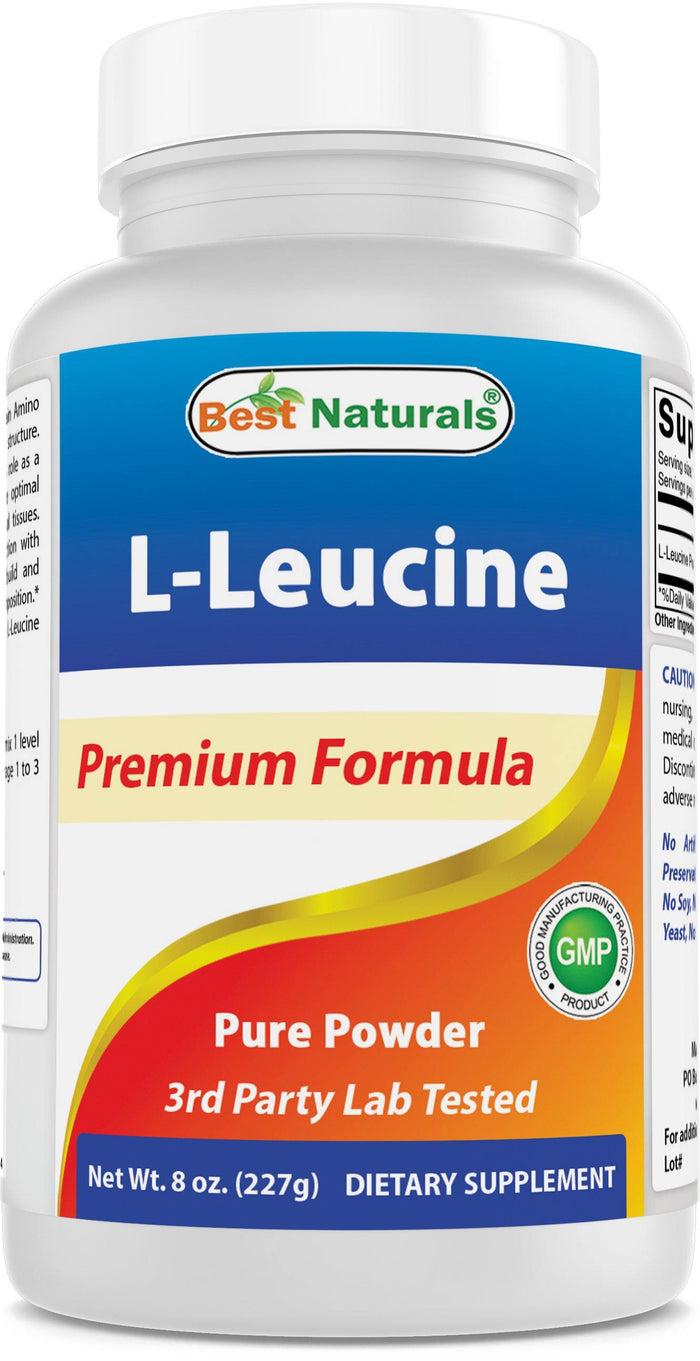 Best Naturals L-Leucine Pure Powder 8 OZ