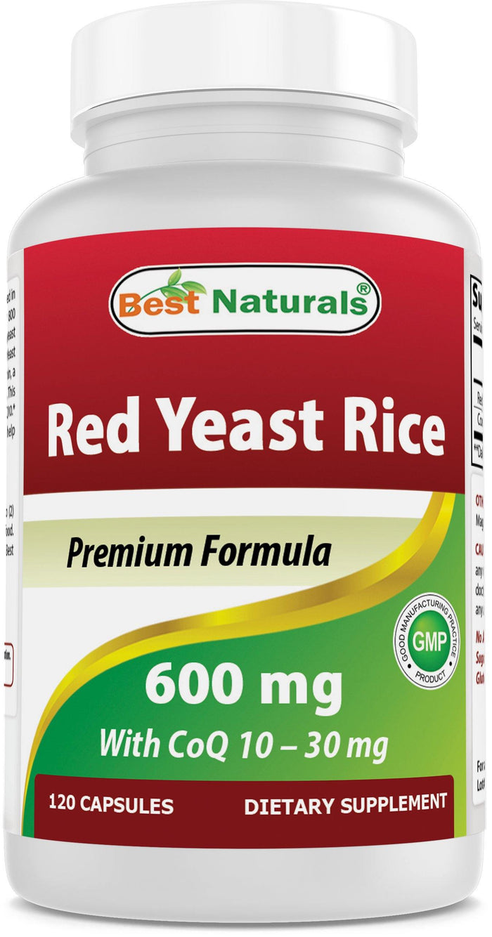 Best Naturals Red Yeast Rice with CoQ10 120 Capsules