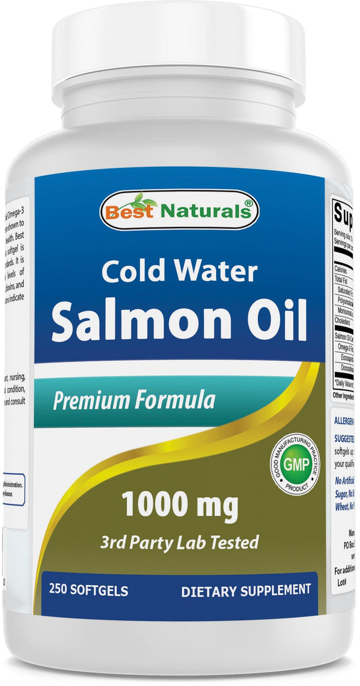 Best Naturals Salmon Oil 1000 mg 250 Softgels