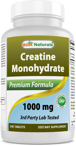 Best Naturals Creatine Monohydrate 1000 mg 240 Tablets