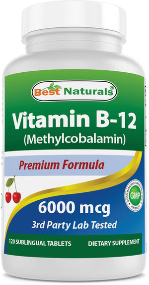 Best Naturals Vitamin B-12 6000 mcg 120 Tablets