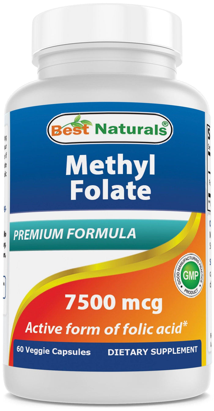 Best Naturals MethylFolate 7500 mcg 60 Veg Capsules