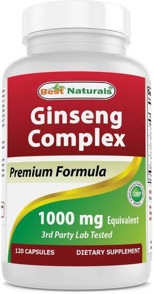 Best Naturals Ginseng Complex 1000 mg 120 Capsules