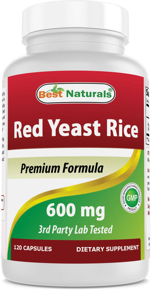 Best Naturals Red Yeast Rice 600 mg 120 Capsules